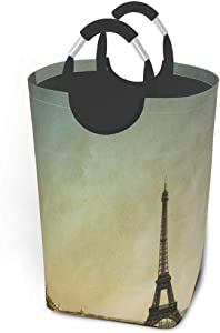 Collapsible Laundry Baskets Vectorthe Eiffel Tower Large Dirty Laundry Hamper Colapsable Collaspable Calaspable Fold Dorm Fabric Laundry Basket for Baby Girl Kids Sock Clothes Camp Travel Rectangle