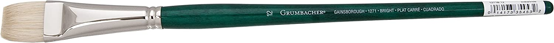 1271B.6 Size 6 Hog Bristle Grumbacher Gainsborough Bright Oil and Acrylic Brush