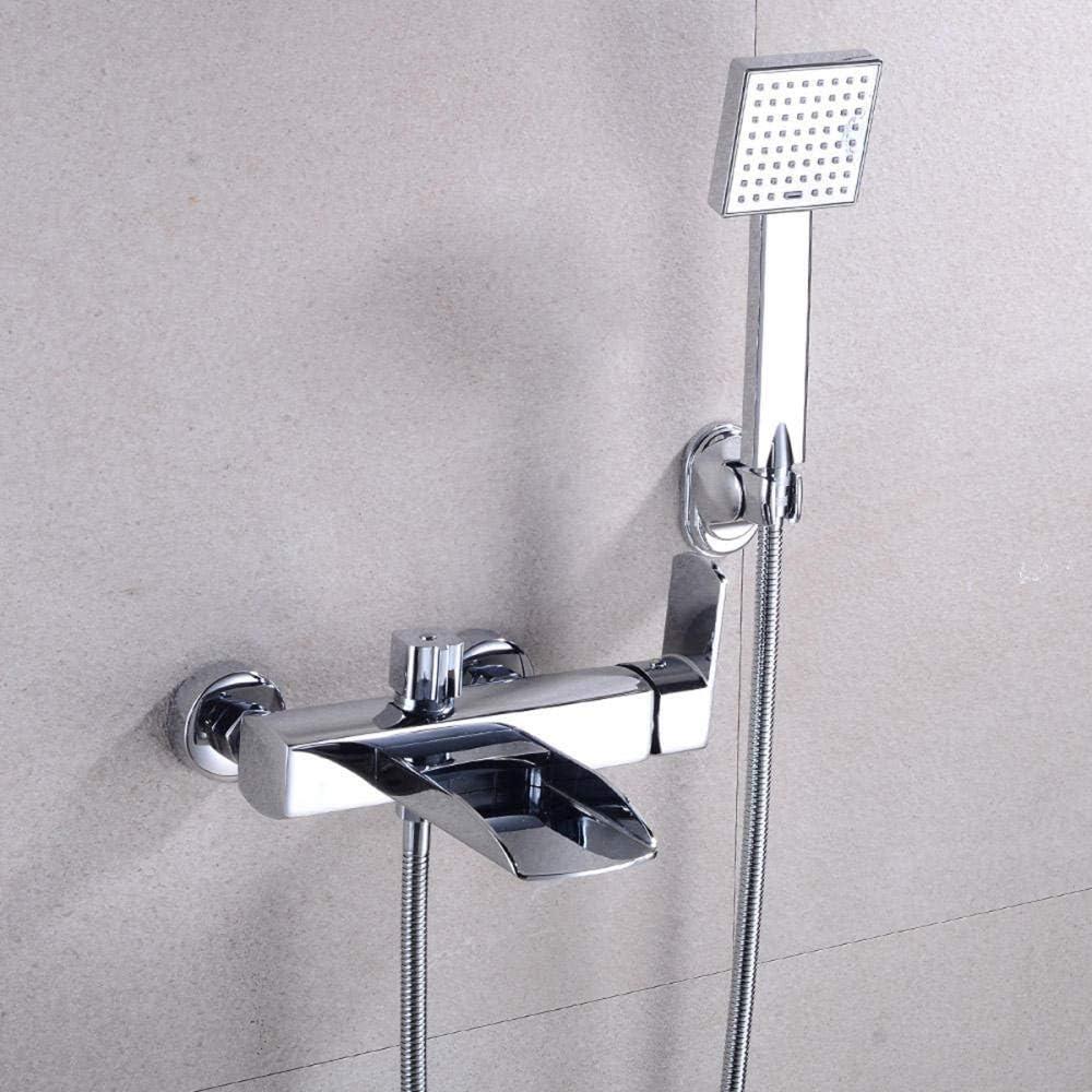 Chrome Kupfer Schwarz Badezimmer Duschkopf Schlauch Duschset Einhand-Wannenarmatur wasserhahn badewanne wasserfall