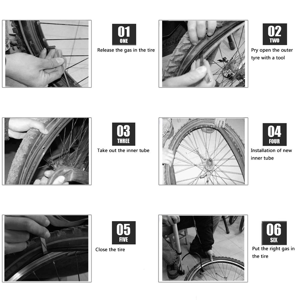 16'' x 1.75/2.15 Back Wheel Replacement Inner Tubes (2-Pack) for BoB Revolution SE/Pro/Flex/SU/Ironman - Made from BPA/Latex Free Premium Quality Butyl Rubber by YIKUSO (Image #3)