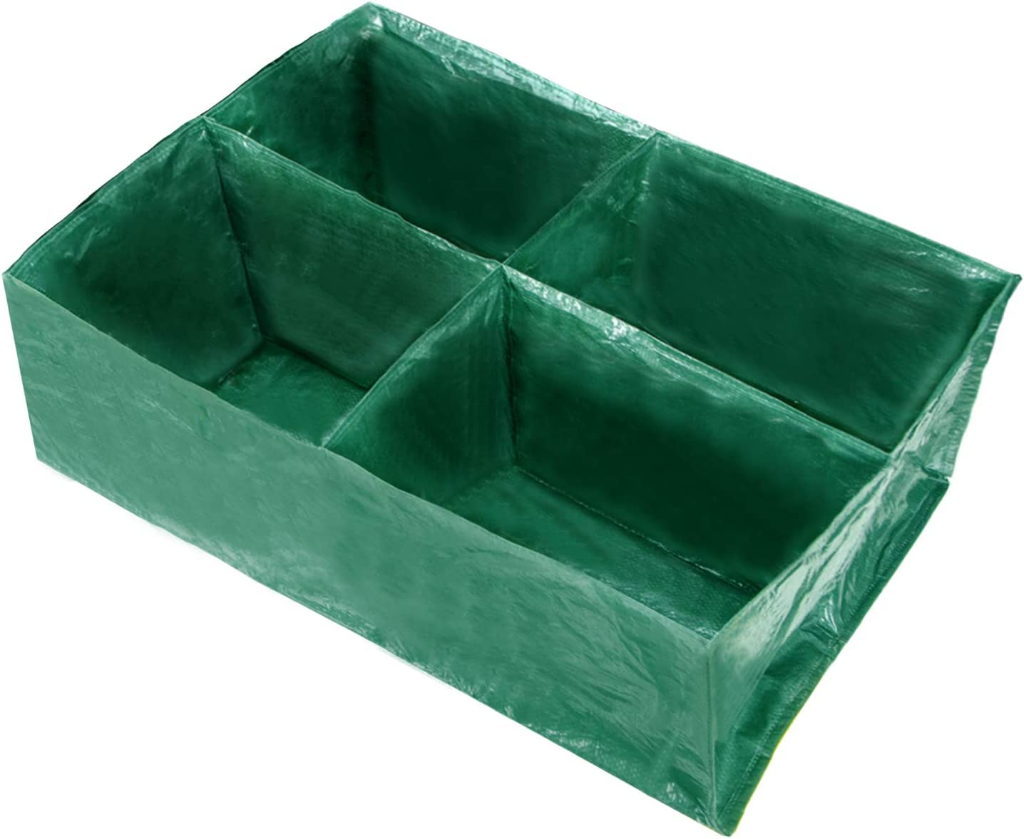 DYC 4 Divided Raised Garden Planting Bed-Divided Grids Large Gardening Bag,Rectangle Breathable Plant Container,Grow Bag Planter Pot Box for Herb Flower Vegetable
