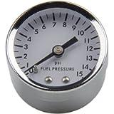 Pindex Universal 1561 Fuel Pressure Gauge 0-15 psi White Face 1-1/2' Diameter