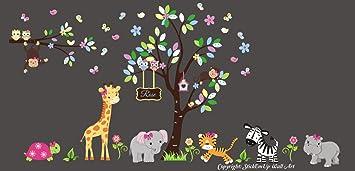 amazon com safari animal wall decals jungle themed wall stickers