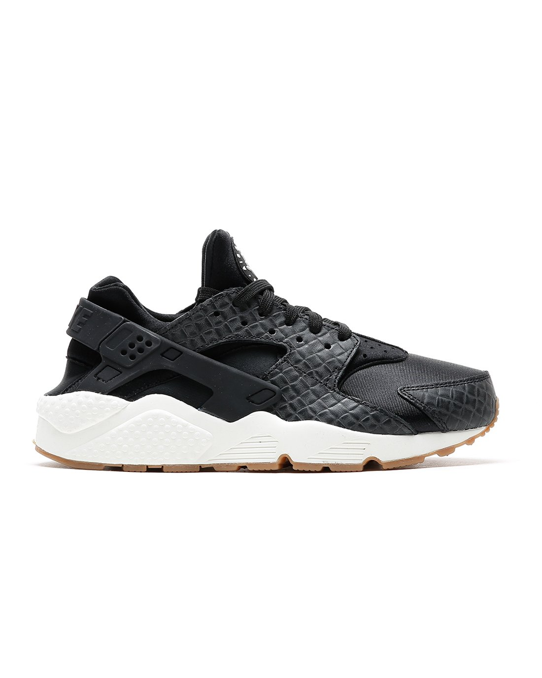 683818-011 NIKE WOMEN AIR HUARACHE RUN PRM PREMIUM BLACK-SAIL-GUM BROWN SZ 6