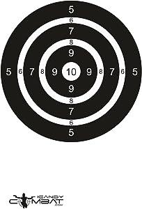 iCandy Combat Black White Bullseye Targets - Paper Range Shooting Target