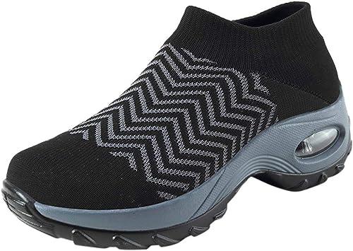 Sneakers Damen Sportschuhe Slip On Turnschuhe Mesh Plateau
