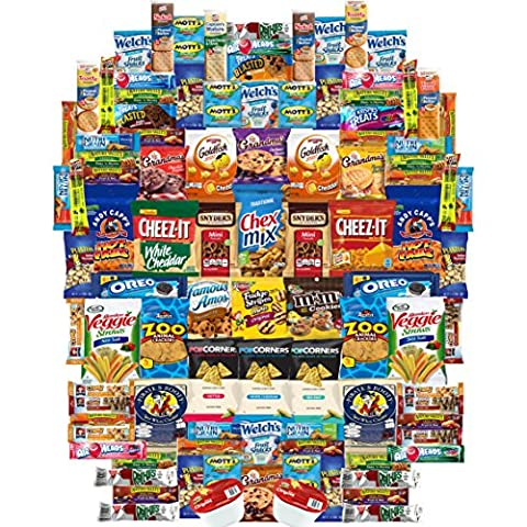Crunch n Munch Ultimate Care Package Assortment Gift Box (100 Count)