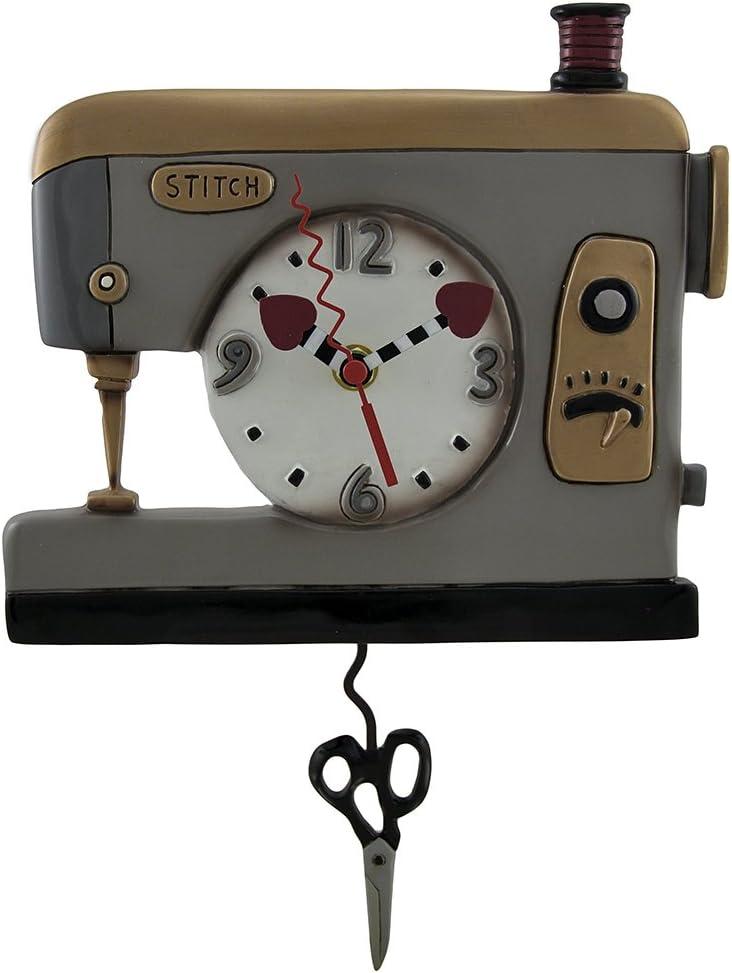 Resina pared máquina de coser de punto de relojes Back Allen ...