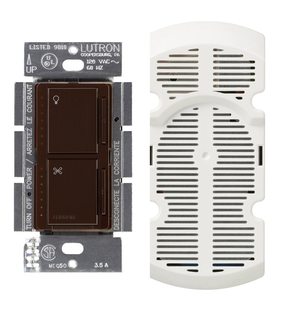 Lutron MA-LFQM-WH 300 Watt Maestro Multi-Location Fan and Light Control, White
