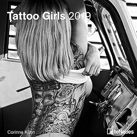 Calendario 2019 Sexy Mujer Desnuda tatuaje - Mujer Erotique lencería + incluye un - Agenda de bolsillo 2019: Amazon.es: Oficina y papelería
