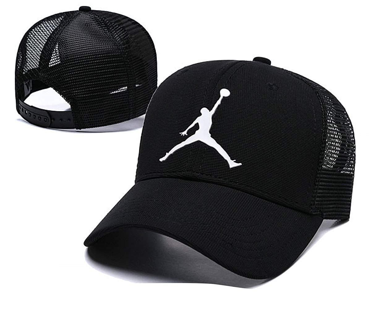 Jordan Sports Caps Men Women Cotton Running Caps Sport Hat Street Snapback Cap Sun Hats Street Hip-hop Basketball Caps at Amazon Mens Clothing store: