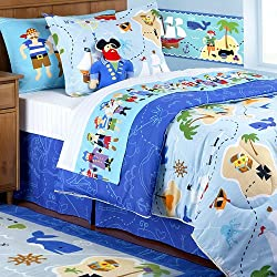 Olive Kids - Pirates Twin Size Comforter and Sheet Set