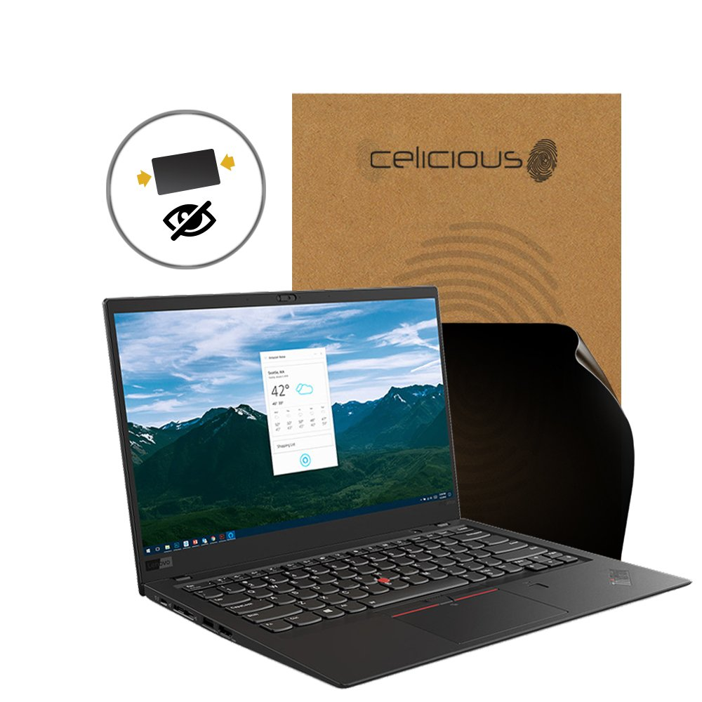 Celicious Privacy 2-Way Anti-Spy Filter Screen Protector Film Compatible with Lenovo ThinkPad X1 Carbon 6th Gen (Non-Touch)