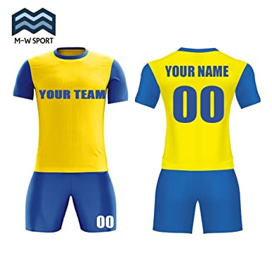 9f80f36ad Custom Team Jerseys Sublimation Soccer Uniform Sport Fabrics pirt Your Team  Name