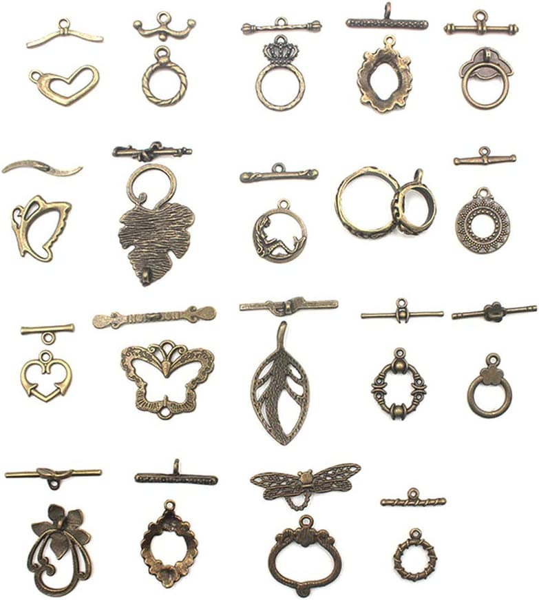 Tiny Antique Gold Toggle Clasp Converter Easy to Use Add to any Necklace or Bracelet Open Close with Ease Arthritis Disability Friendly