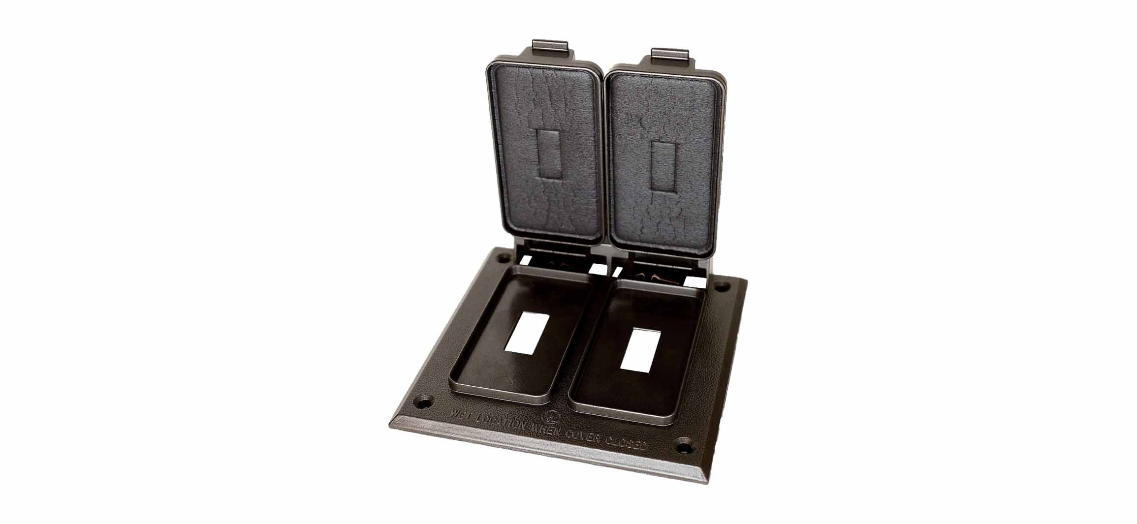 Made in USA Weatherproof Electrical Outlet Box Cover Bronze