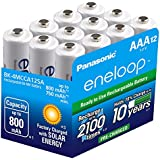 Panasonic BK-4MCCA12BA Eneloop AAA 2100 Cycle Ni-MH Pre-Charged Rechargeable Batteries, 12 Pack