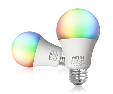 Peteme Smart LED Multicolor Light Bulb