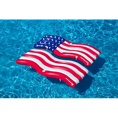 Swimline Americana Flag Connector Mat Pool Inflatable Ride-on, Red, White, Blue: Toys & Games