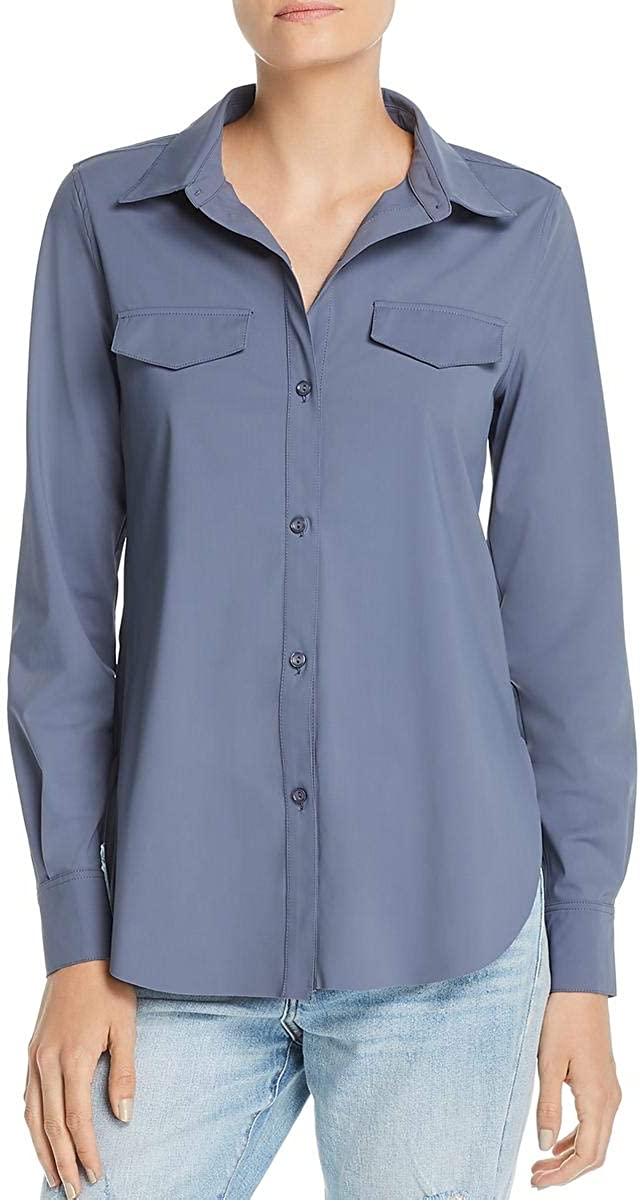Lysse Womens Brinkley Casual Long Sleeves Button-Down Top