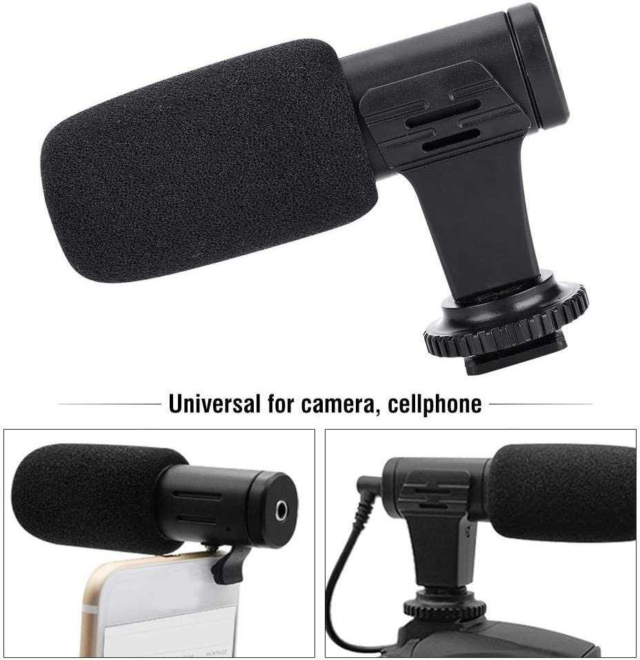 Sturdy Durable Lightweight Portable Single Directivity High Sensitivity with 3.5mm Audio Interface for Smartphone Taidda Mini Mobile Phone Camera Microphone