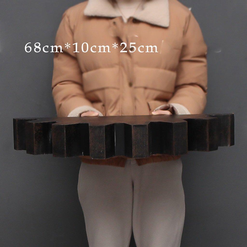 Shelf Fashion capital Amerikanisches industrielles Windwand-Schmiedeeisen-hölzernes Buchregal rüstet Wohnzimmerwand-Aufhängegestelldekoration auf (größe   118  10  26cm)  681025cm