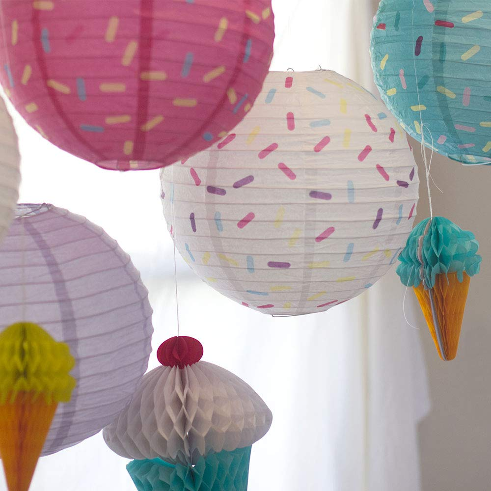 Just Artifacts 12inch Hanging Paper Lanterns (Sprinkles Pattern, 3pcs) by Just Artifacts (Image #9)