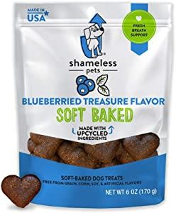 SHAMELESS PETS Soft-Baked Dog Treats   Clean, Natural, Grain-Free Dog Biscuits   Made w/Upcycled Ingredients in USA