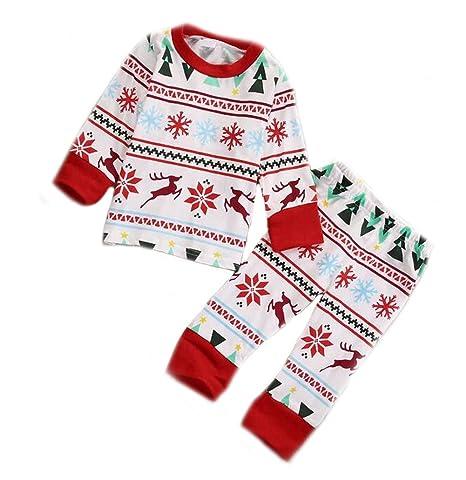arro whunt Niños Niño Niña 2pcs Navidad Pijama Chándal (para 2 - 7 ...