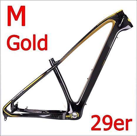 Wenhu Cuadro de Bicicleta de montaña Gold Mountain Cuadro MTB + ...
