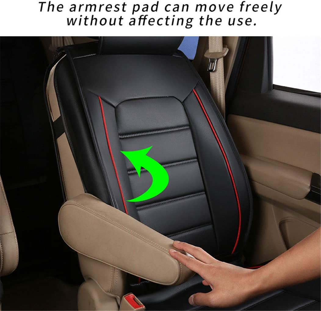 Luxury Red Car Seat Covers for Toyota Sienna 2015 7-Seat Custom PU Leather Front Rear Seat Pad All Season Protetion Full Set Easy Install Airbag Compatible