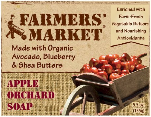 Farmers' Market Natural Bar Soap, Apple Orchard, 5.5 Ounce (Pack of 2) by Farmers - Orchard Shopping Mall