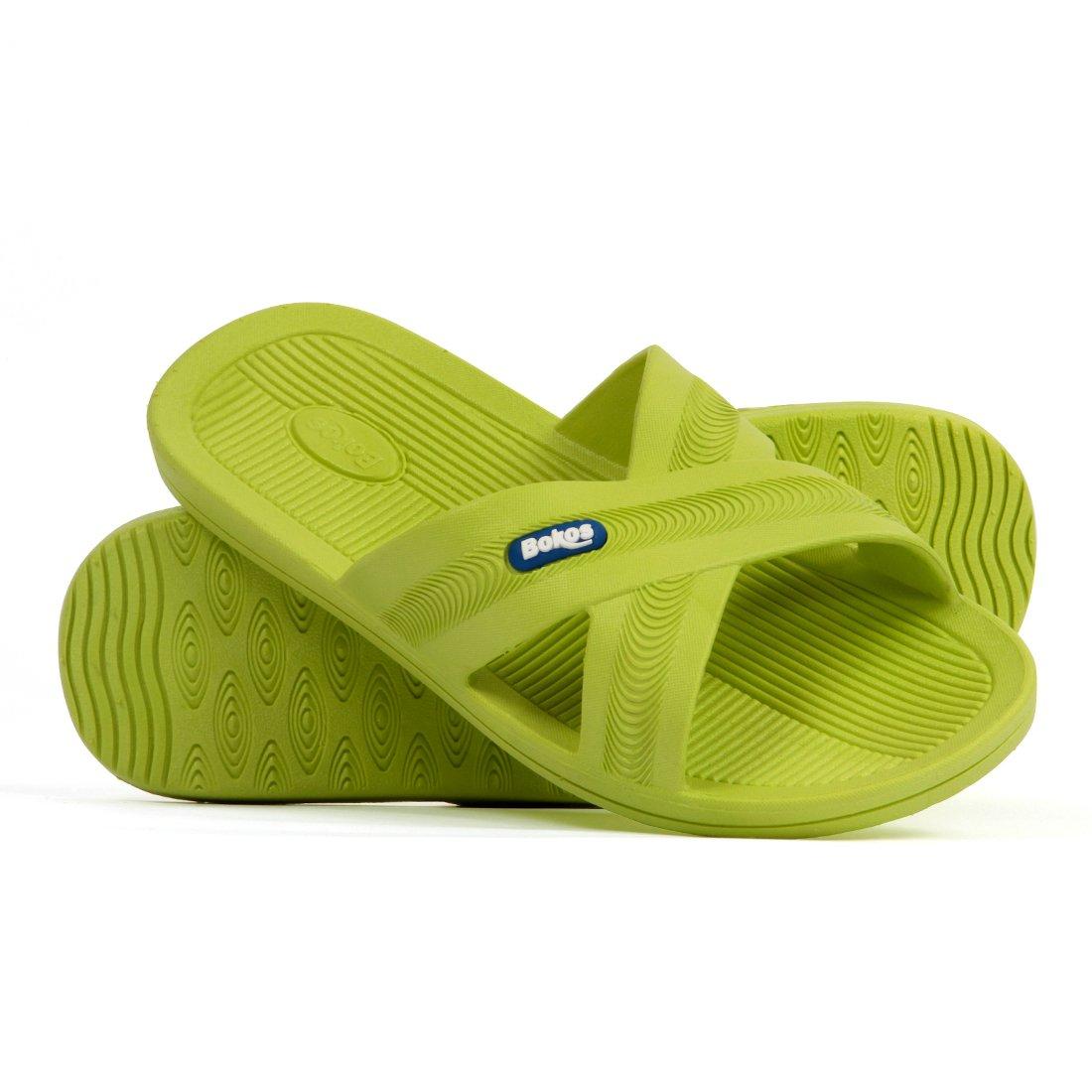 Bokos Women's Rubber Slide Sandals B00GPQIBX6 8 B(M) US|Green Apple
