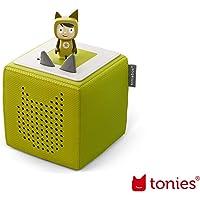 tonies Toniebox Starterset Grün für Kinder inkl. Kreativtonie, Ladestation und Bedienungsanleitung