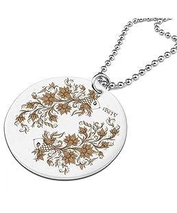 RUIZIts Leaves Pisces Female Clothing Round Ornaments Necklace Porcelain Printing Pendant Design