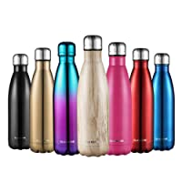 Stainless Steel Vacuum Insulated Water Bottle-CMXING Reusable Double Walled Drinks Bottle Flask Standard Mouth-12 Hours Hot & 24 Hours Cold -500ml & 750ml-Non-Toxic BPA Free