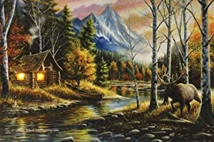 """River's Edge Products 24"""" x 16"""" LED Wall Art Living The Dream"""