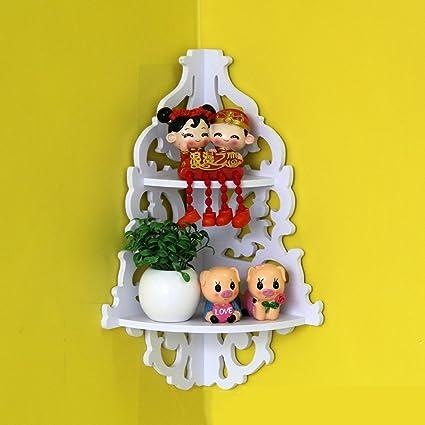 Amazon.com: Yosoo White Wooden Chic Filigree Style Decorative Wall ...