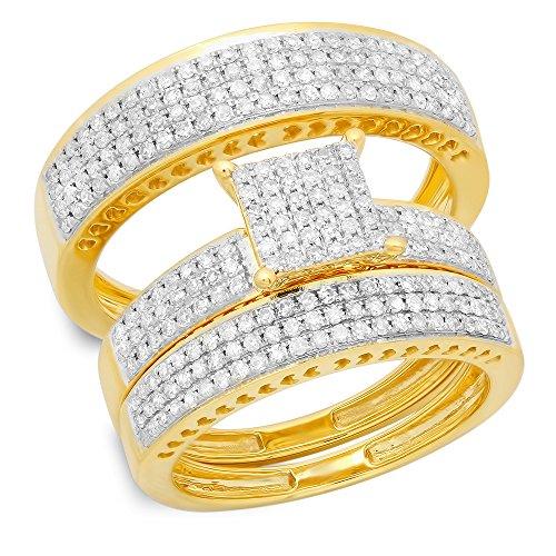 Diamond 14ky Mens Ring - 3