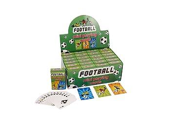 Tema de fútbol Mini Juego de Cartas - Pack de 24: Amazon.es ...