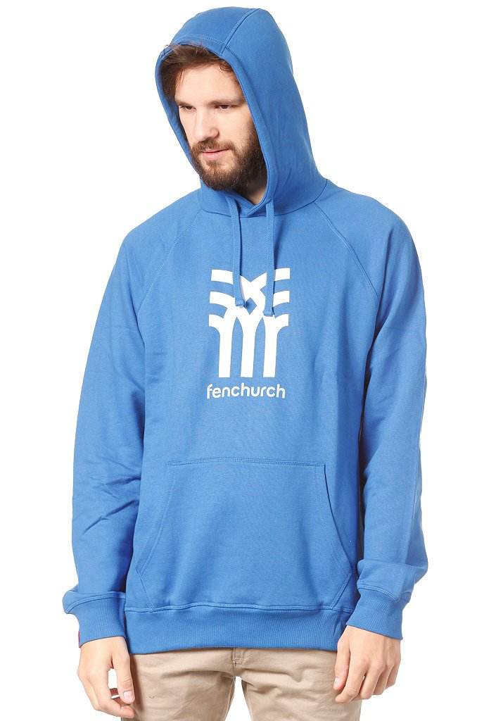 Fenchurch - Sudadera con capucha, color azul azul/blanco Talla:small: Amazon.es: Deportes y aire libre