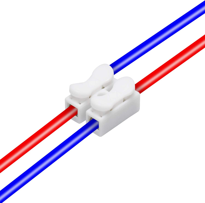 Schnelle Kabel zum Verbinden 2P Schnellverbinder Kabel Klemme Anschlusskabel Kraftklemme f/ür die LED-Lampe WEKON 100 St/ück Verbindungsklemme Set