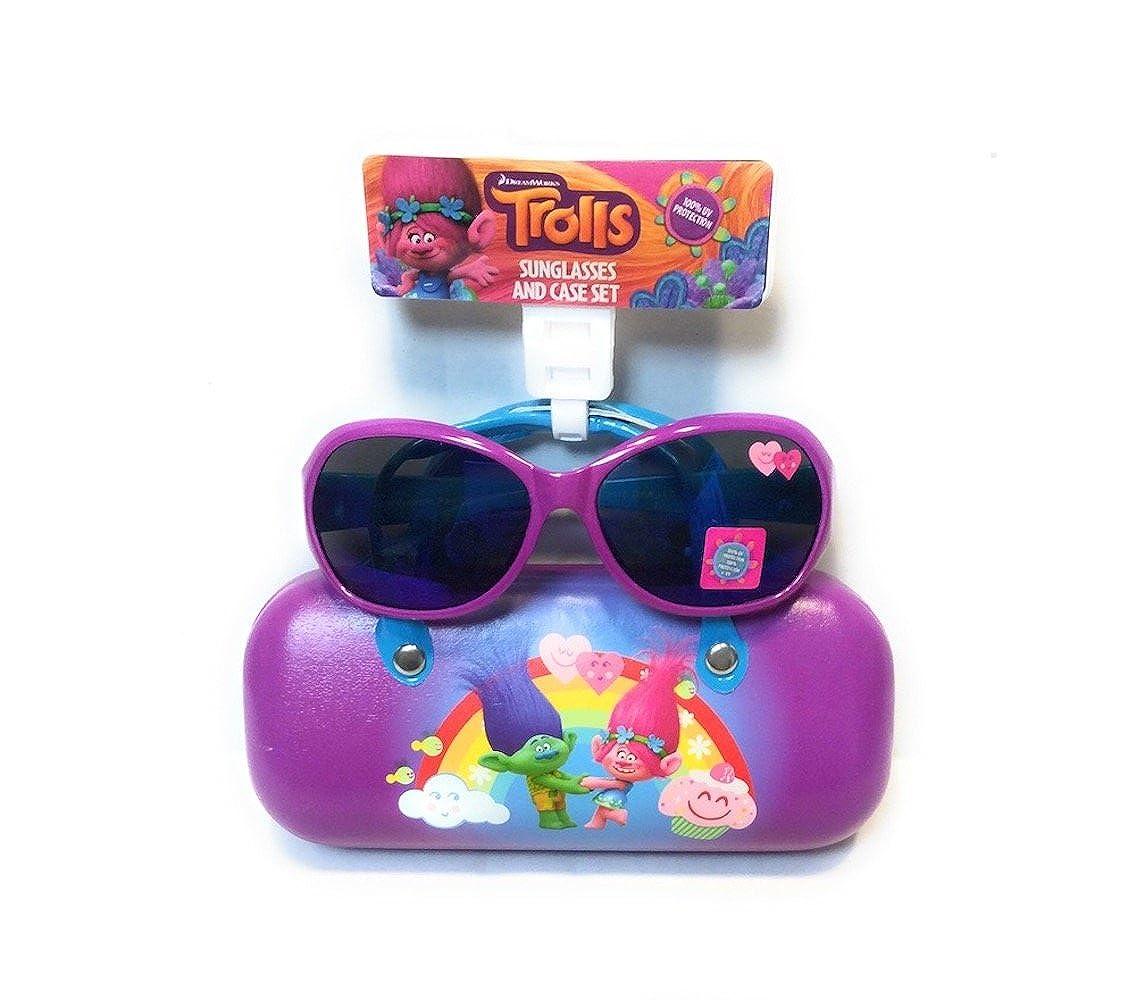 Trolls Girls' Sunglasses and Case Set