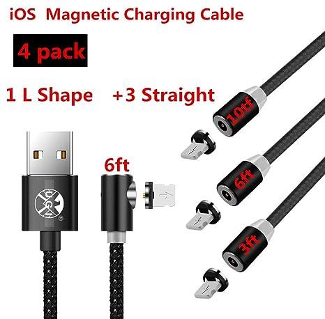 UGI Cable de Carga magnético Paquete de 4 Cable USB Cargador ...