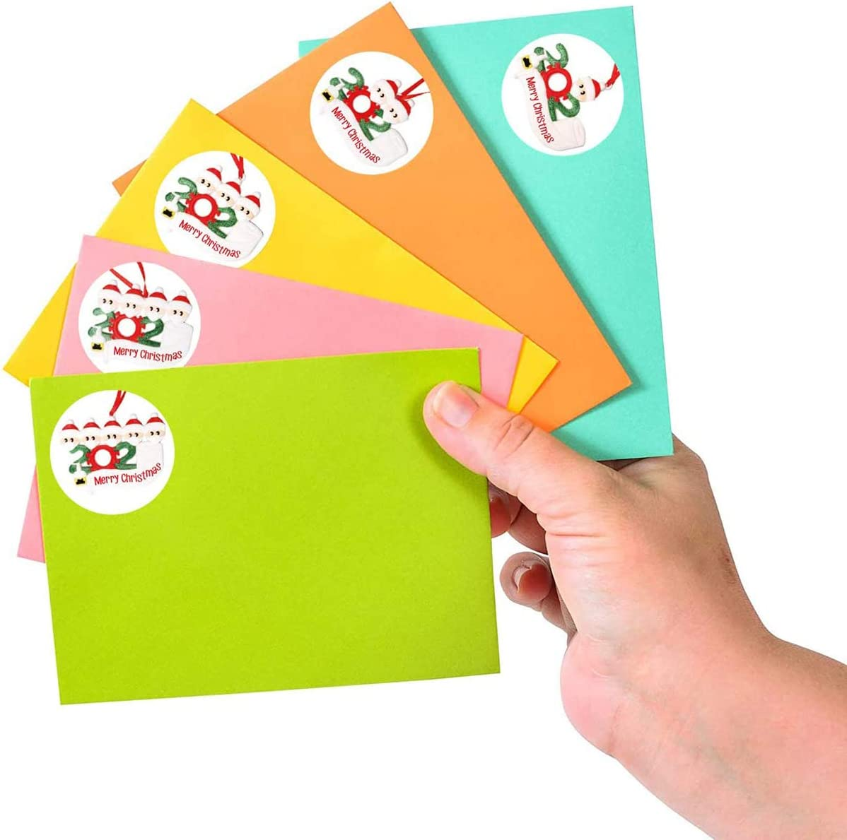 2020 Christmas Quarantine Survivor Round Label Stickers Envelope Stickers Seals for Cards Present Envelopes Boxes Bag Sealing Decorations 1.5 Inch Merry Christmas Stickers