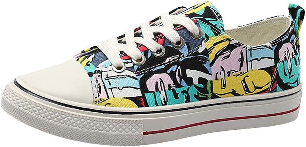 Zapatos de Lona Ocasionales del Camuflaje Antideslizante de Moda ...