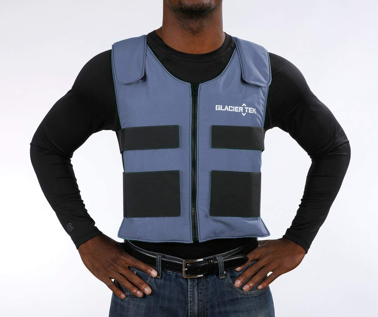 Glacier Tek Sports Cool Vest with Set of 8 Nontoxic Cooling Packs