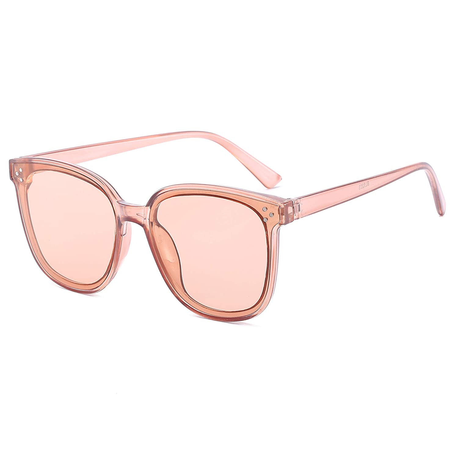 Armear Women Men Fashion Circle Frame Horn Rimmed Retro Round Sunglasses 60mm