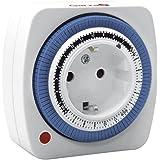 Garza Power - Temporizador analógico Mini , programación semanal 24 horas