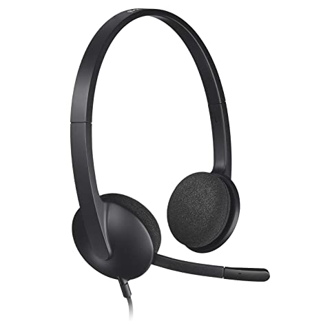 53a661280bc Amazon.com: Logitech USB Headset H340, Stereo, USB Headset for Windows and  Mac: Computers & Accessories